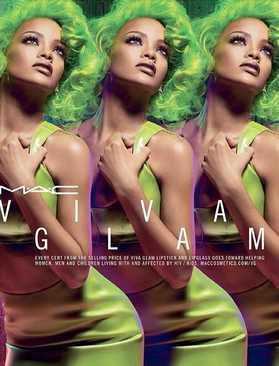 All For A Good Cause: Rihanna goes green for Mac Viva Glam Campaign